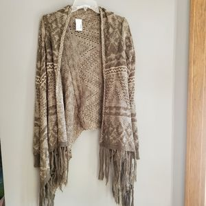 Fringed Cardigan maurices open sweater shawl